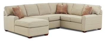 Small Living Room Sectional Joanne Linen With Wide Chaise Lounge