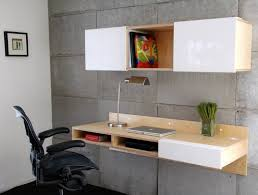 Desks With Shelves by Modern Cream And White Particle Wood Mixed Plywood Computer Desk