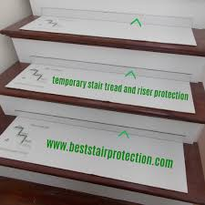 stair tread and riser protection pads quantity of 15 stair