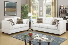 White Leather Living Room Set Decorating White And Chair White And Loveseat