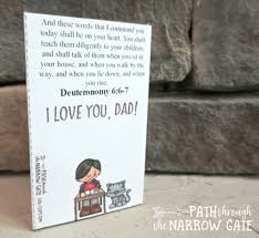 printable father u0027s day card path through the narrow gate