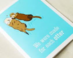 sea otter happy birthday greeting card
