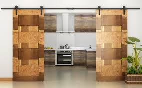 the exotic mosaic of these doors is in wood and is creating using varying wood