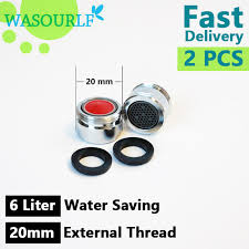 External Faucet Aliexpress Com Buy 2 Pcs Water Saving Faucet Aerator 6l 20mm