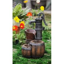 fountain old water pump design outdoor garden backyard home decor new