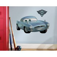 disney baby cars wall decals walmartcom disney cars wall decals cars 2 finn mcmissle peel and stick wall decal
