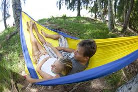 grand trunk double parachute nylon travel hammock