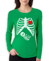 pregnant halloween shirt skeleton pregnant skeleton xray baby boy women long sleeve t shirt