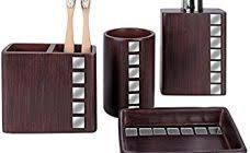 Dark Brown Bathroom Accessories by Fashionable Ideas Brown Bathroom Accessories Sets Silver Lizard