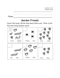 12 best images of insect worksheets for kindergarten free