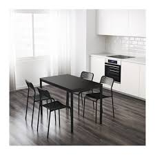 black and tan hamilton narrow wood top c table dining room furniture ikea