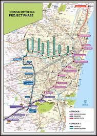 Metrorail Map Chennai Metro Train Project Map Plan Phase 1 Phase 2 Routes