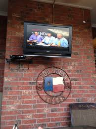Tv Installation Wall Mount San Antonio Tx Regular Tv Outside Under Covered Patio Deck Texasbowhunter