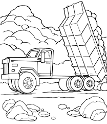 truck coloring book dump truck coloring pages printable road