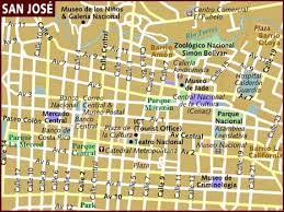 san jose costa rica on map map of san jose