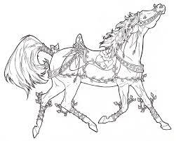 carousel horse vines flowers requay deviantart