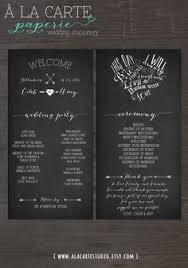 ceremony cards for weddings wedding ceremony cards wedding program chalk board style