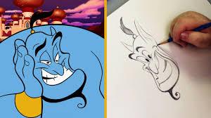 draw genie aladdin disney insider disney video