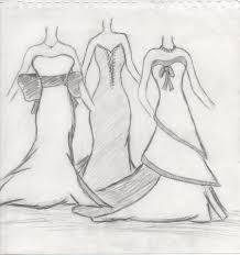 wedding dress sketch by dorrenyta on deviantart