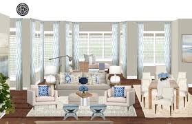 coastal transitional living room design by havenly interior