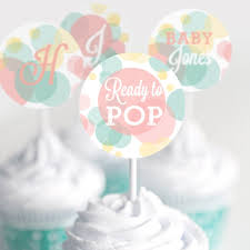 unisex baby shower ready to pop baby shower cupcake toppers unisex baby shower