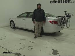 2008 lexus es 350 review thule trunk bike racks review 2008 lexus es 350 etrailer com