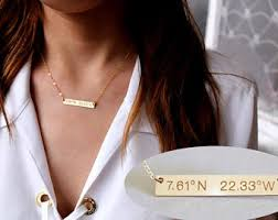 gold name bar necklace personalized gold bar necklace custom name bar necklace