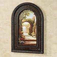 pomeriggio arched framed wall art