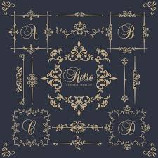 ornamental frames in vintage style vector free