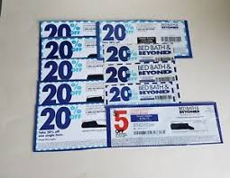 20 Off Coupon Bed Bath And Beyond Bed Bath And Beyond Coupons Lot Of 10 9 20 Off 1 Item 1 5