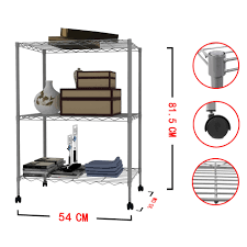 Metal Wire Storage Shelves Tier Steel Wire Metal Shelf Adjustable Shelves Storage Rack Grey