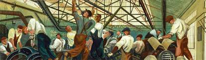 Coit Tower Murals Diego Rivera by Automobile Industry By William Gropper This Mural Along With Its