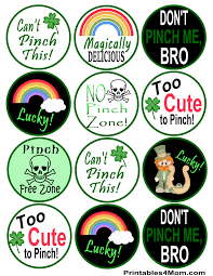 printable st patrick u0027s day stickers printables 4 mom