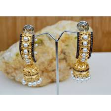 gold jhumka earrings ethnic gold jhumka earrings
