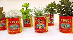 Tin Can Table Decorations Fiesta Decorations For Wedding El Pato Mexican Tin Cans Set Of