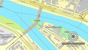 map of rouen pdf map rouen printable vector city plan map