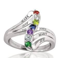 mothers ring 6 stones zales zales s simulated birthstone swirl ring in