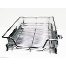 panier coulissant pour meuble de cuisine munchen panier de rangement coulissant pour placard de cuisine ou