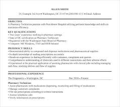 sample pharmacy technician resume 8 free documents in pdf word