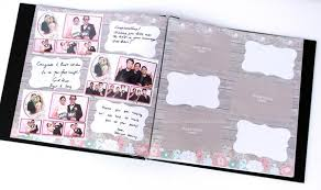 photo album 4x6 photo booth scrapbook album printed pages rustic wood shabby