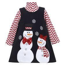 amazon com bonnie jean girls snowman winter chevron holiday