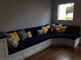 How To Make A Window Bench Seat Cushion Custom Cushion Sewn Banquette Seat Bench Cushion With