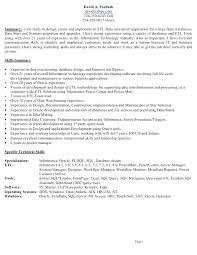 etl developer resume mainframe resume sle mainframe resume