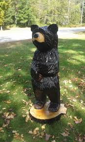 Black Bear Decorations Home 4ft Black Bear Wood Carving Wood Carving Chainsaw Carving