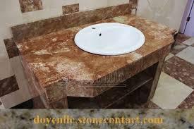 tea rose marble bathroom vanity tops wt white top mount ceramic