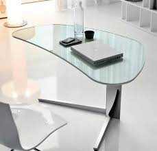 Glass Corner Desks Black Glass Corner Desk Home Design Ideas