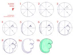 how to draw bubble letters page 2