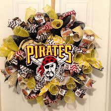 pittsburgh pirates wreath pirates deco mesh wreath pirates