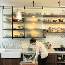 glass kitchen cabinets sliding doors 11 clever alternatives to kitchen cabinets kitchen