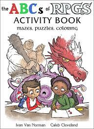 abcs rpgs coloring activity book thinkgeek